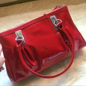 Vintage Givenchy Red Patent Handbag